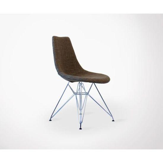 rembourrée LYA scandinave métal pieds tissu Chaise design 7v6gbfYy