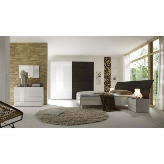 Chambre Adulte Complete Design Wenge Blanc Laque Tenerif Ii 180 X 200 Cm Achat Vente Chambre Complete Chambre Adulte Complete Des Cdiscount