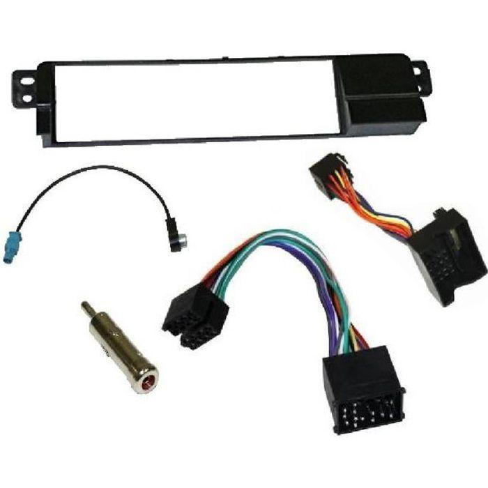 Kit Adaptateur Autoradio 1Din BMW Serie 3 E46 98-06 + ISO + FM