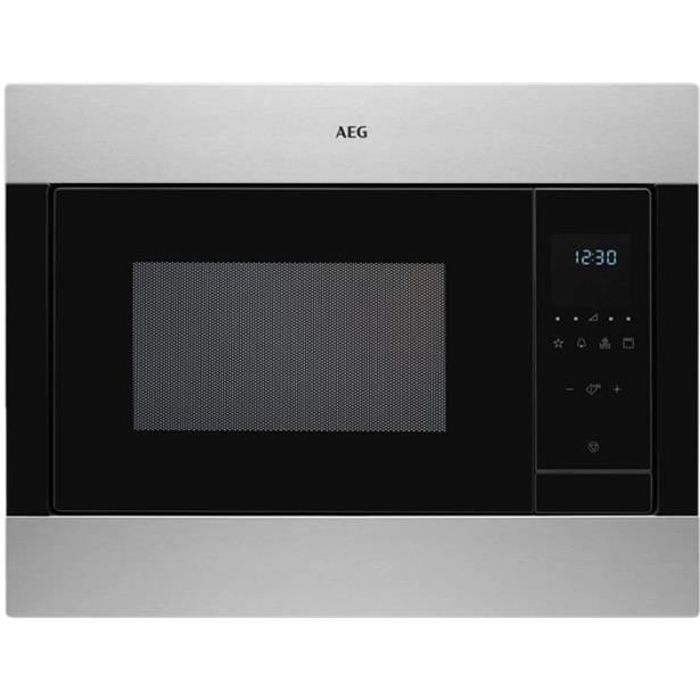 AEG MSB2548CM Four micro-ondes combiné grill intégrable 23 litres 900 Watt inox