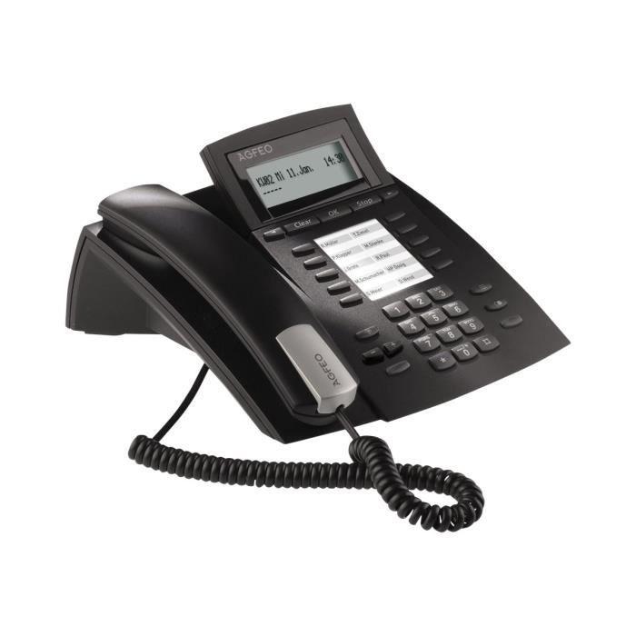 AGFEO ST 22 IP Téléphone VoIP noir
