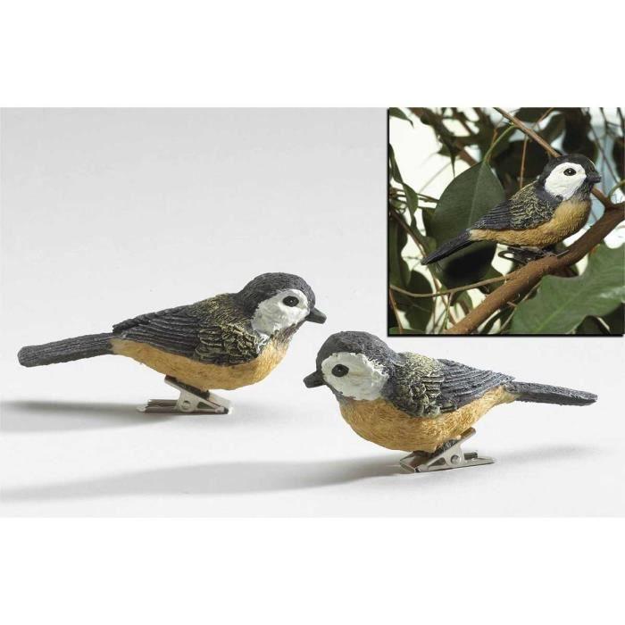 2 oiseaux decoratifs a pince
