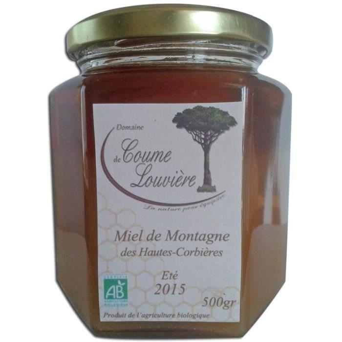 Miel de montagne Bio des Hautes Corbières 500 g