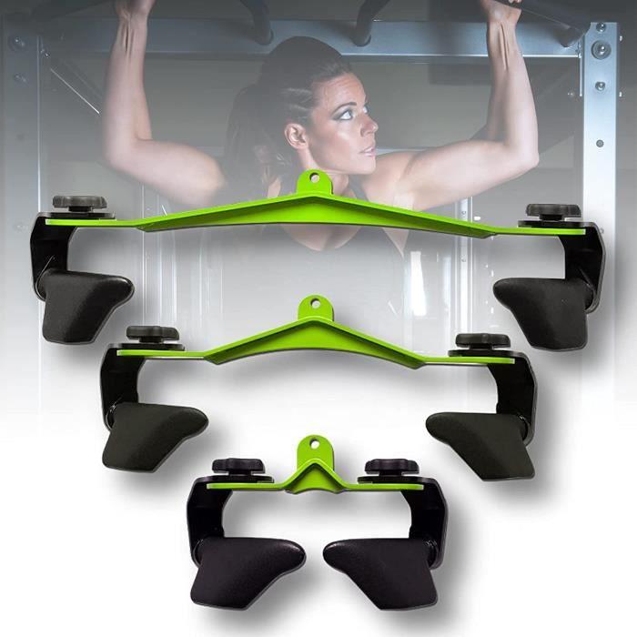 ZPCSAWA Barre en V Traction Caoutchouc pour Triceps--Biceps, Barre de Tirage Gym Fitness Equipement pour Fixation sur n'import239