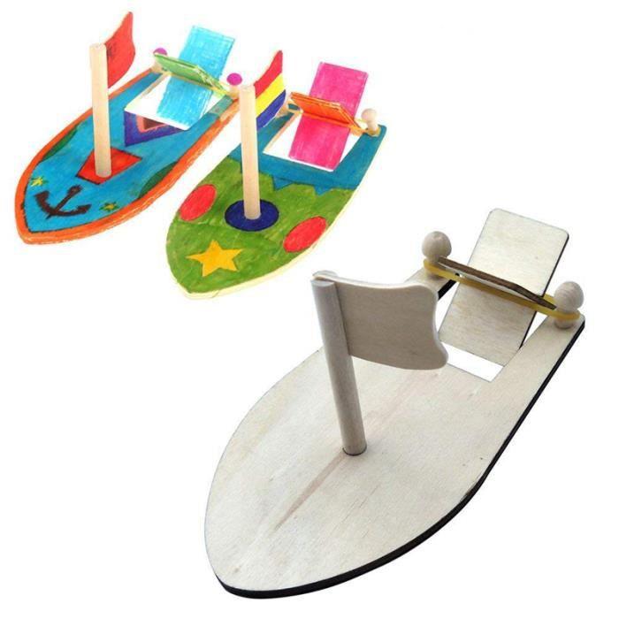 Enfants amusant bricolage assemblage Kits de construction bateau modèle en bois voilier jouets modèle de voile assemblé Kit enfa