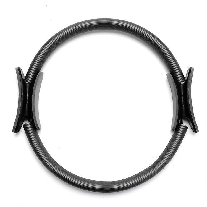 Cercle Pilates Dual Grip Sport Exercice Fitness Équipement Outil Yoga noir