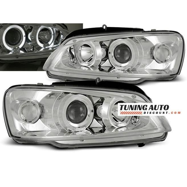 Phares avant Peugeot 106 08.96-03 angel eyes chrome