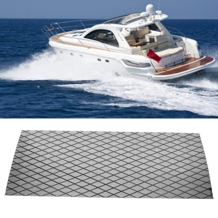 Revêtement de sol EVA de bonne qualité pour le sol - Auto-adhésif - Mat pour yacht bateau(Gris + Noir ,70x190cm ) -ABI