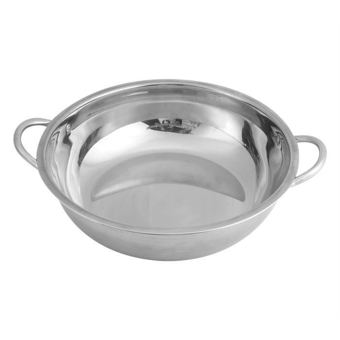 Garosa marmite à soupe 30CM acier inoxydable Hot Pot cuisinière à induction maison cuisine batterie de cuisine soupe casseroles