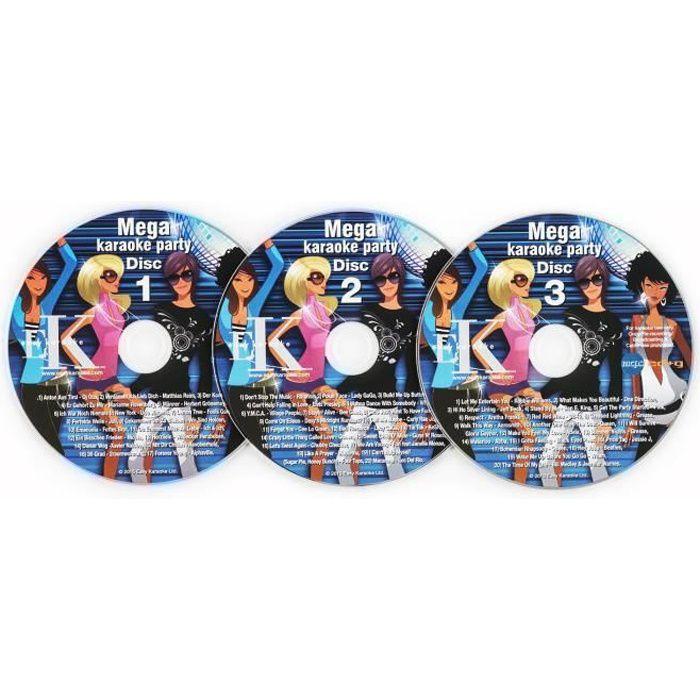 auna Set 3 x CD-G pour lecteur karaoké