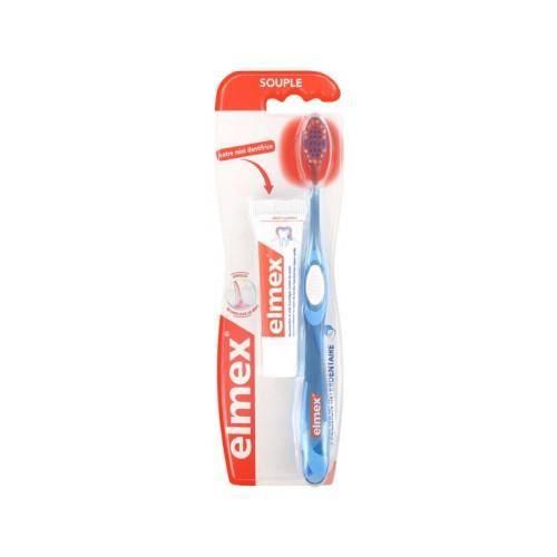 Précision Interdentaire Brosse à Dents Souple + Mini-Dentifrice Protection Caries 12 ml