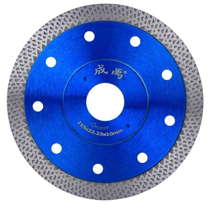 Kit de remplacement de meuleuse d'angle de roue de coupe de lame de scie diamantée pour marbre en béton (115 mm de diamètre)