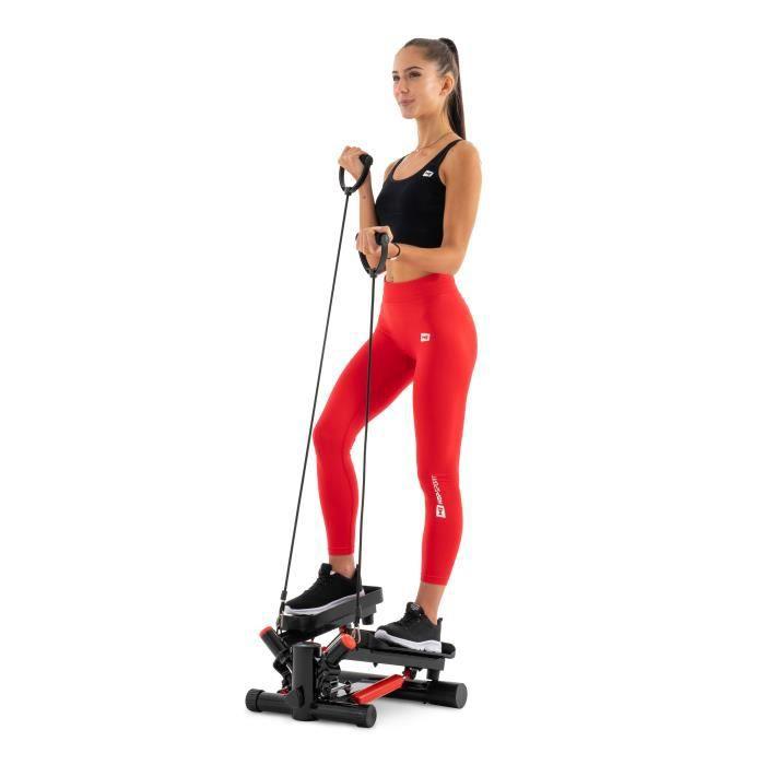 HS Hop-Sport Joy HS-035S Stepper rotatif à résistance ajustable avec sangles d'exercice Rouge
