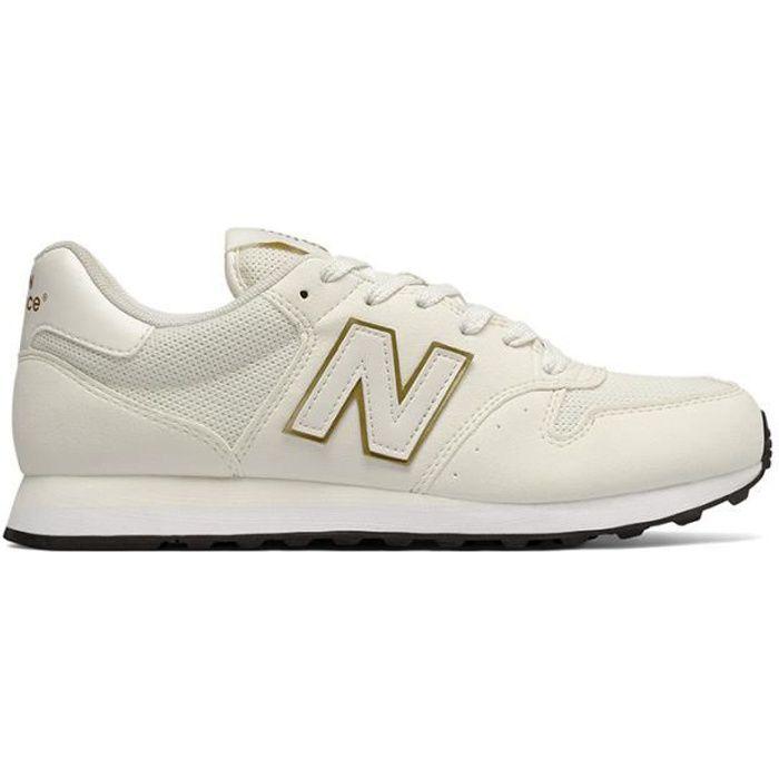 Chaussures New Balance GW 500 beige blanc doré femme