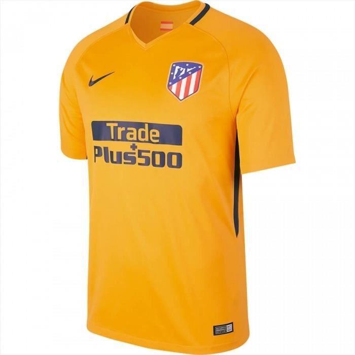 Camiseta Fútbol Atlético De Madrid 2ª Amarilla 2017/18 Niño