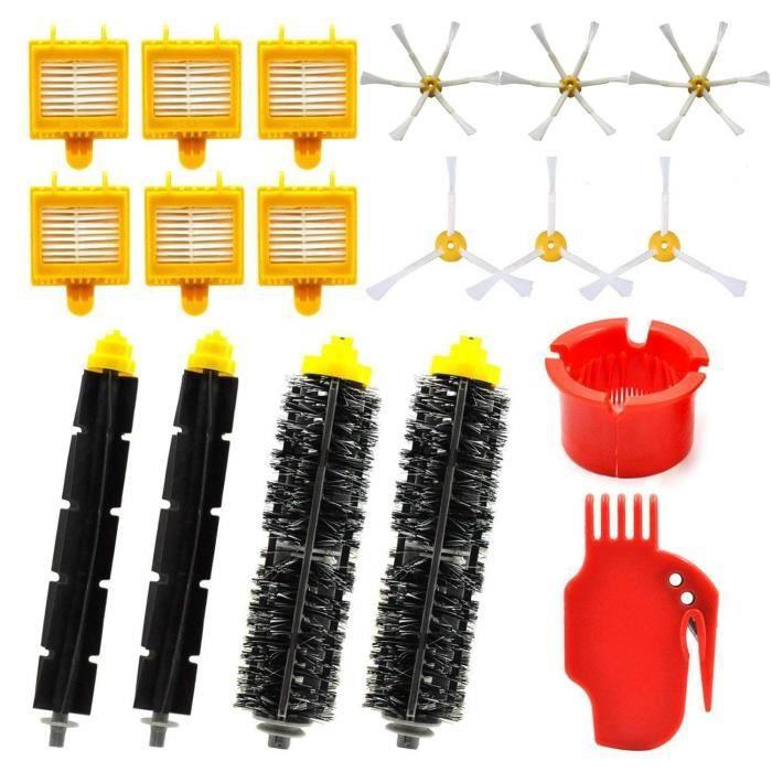 Kit de pieces de rechange pour Roomba iRobot Serie 700 - Kit d'accessoires pour aspirateur Roomba 760 770 780 790 (18 en 1)