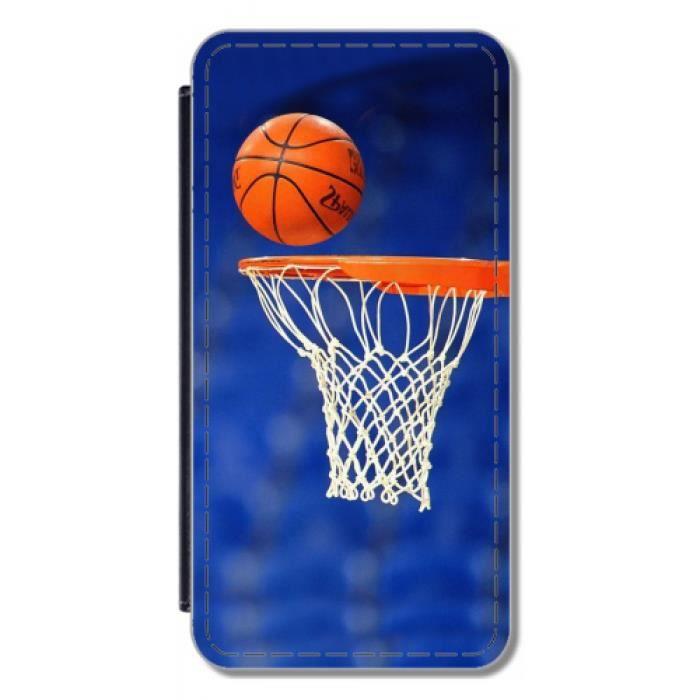 Etui à Rabat pour Samsung Galaxy S6 Edge Plus (SM-G928) - Lancer Franc de Tony Parket - Basket d-e