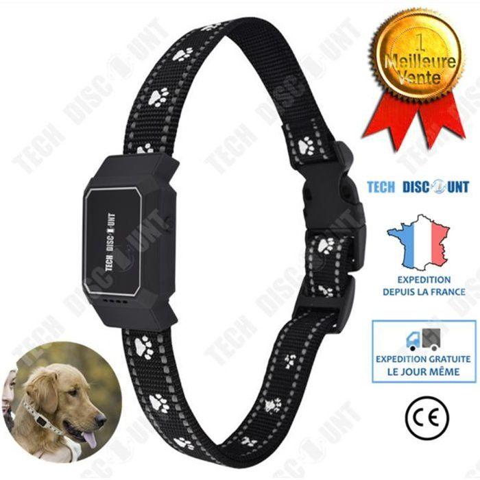 TD® collier gps anti perte suivi chien chat tracking intelligent anti fugue alarme animaux de compagnie dressage anti aboiement