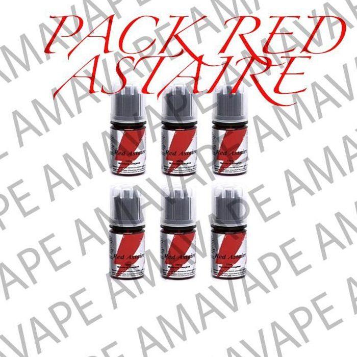 Pack 5x Concentré Red Astaire 30ml + 1 Cadeau Surprise AMAVAPE - Sans nicotine ni tabac - Vente interdite au moins de 18 ans - AMAVA