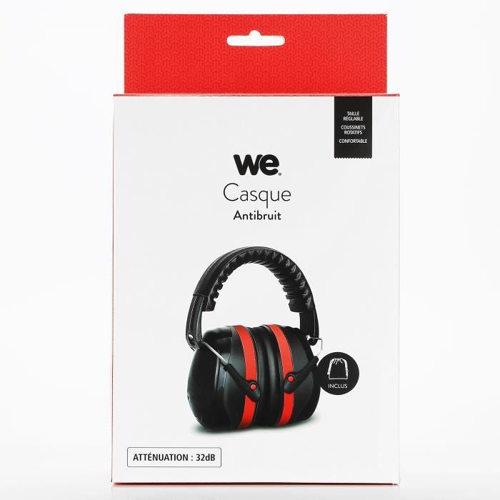WE Casque Anti Bruit Adulte, Casque Antibruit SNR 32dB avec Son Sac de Transport, Cache-Oreilles et Serre-Tête Reglables,