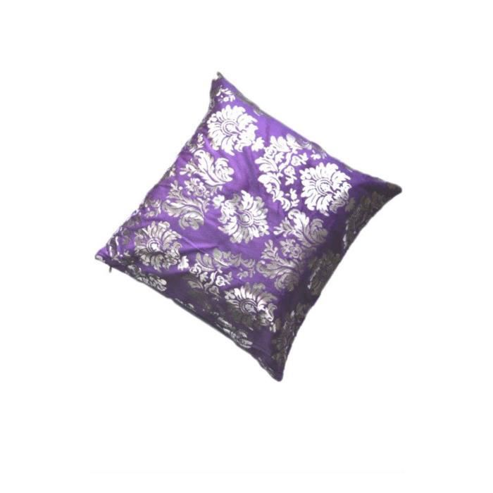housse de coussin motif fleurs en violet achat vente. Black Bedroom Furniture Sets. Home Design Ideas