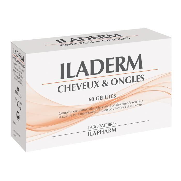BEAUTÉ CHEVEUX-ONGLES ILADERM CHEVEUX ET ONGLES, Acide aminés, Vitamines