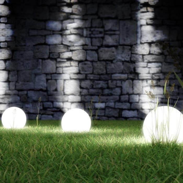 Sphère boule solaire lumière jardin décoration 30 cm