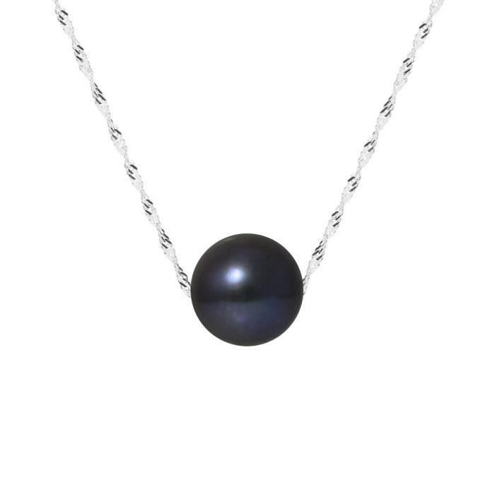 SAUTOIR ET COLLIER PERLINEA Collier Perle de Culture et Or Blanc 375°