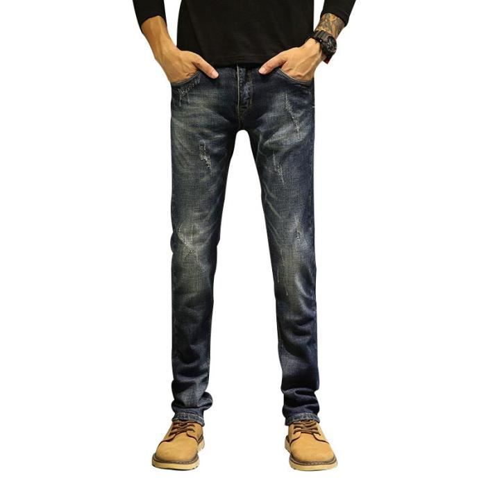 9c330b8933d Boutique Hugo-Rétro Jeans Homme Fashion Casual Jean Slim Fit Homme ...
