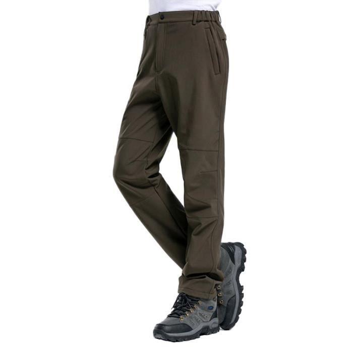 PANTALON - SHORT DE MONTAGNE Pantalon Softshell Homme Doublé Polaire Coupe-vent
