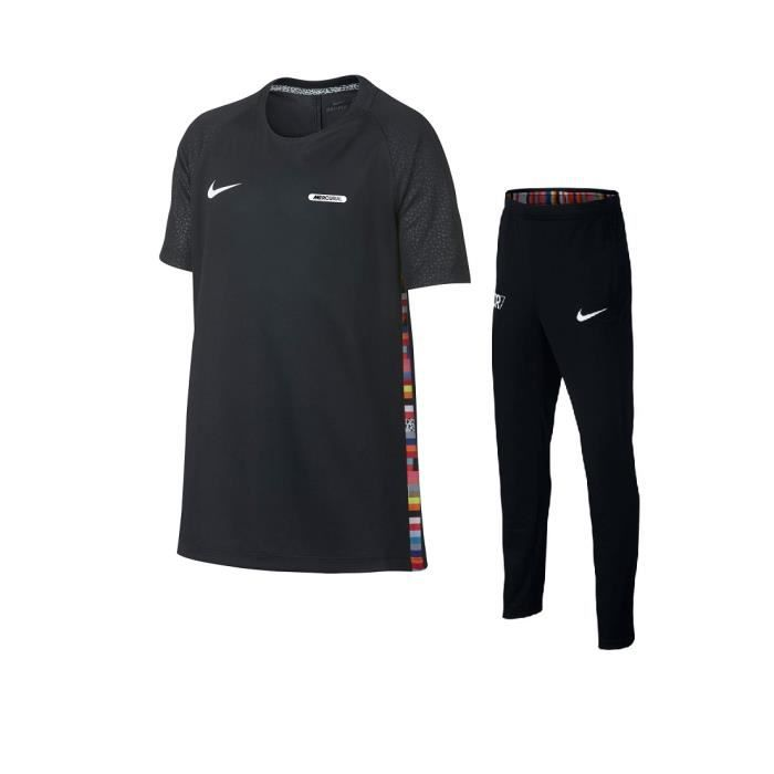 on feet images of promo code many styles NIKE ENSEMBLE JUNIOR CR7 RONALDO NOIR TOP TRAINING 2019 maillot jordan
