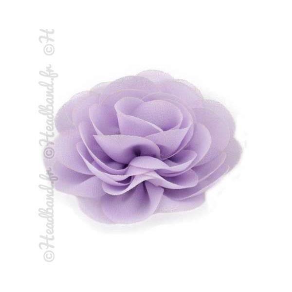 Pince fleur mousseline mauve clair