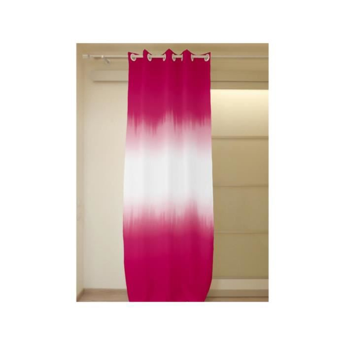 rideau oeillets tie and dye fuschia achat vente. Black Bedroom Furniture Sets. Home Design Ideas