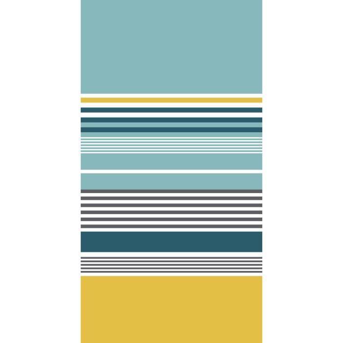 SERVIETTE DE PLAGE TODAY Drap de Plage 100% Coton 90x170 cm - Bleu et
