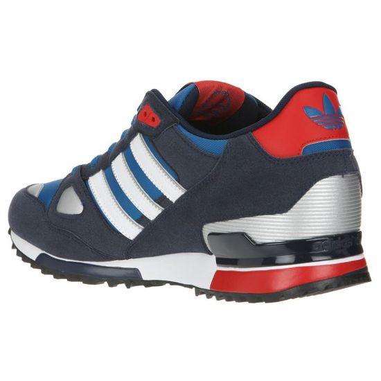 ADIDAS Baskets ZX750 Homme Bleu, marine, blanc, rouge et argenté ...