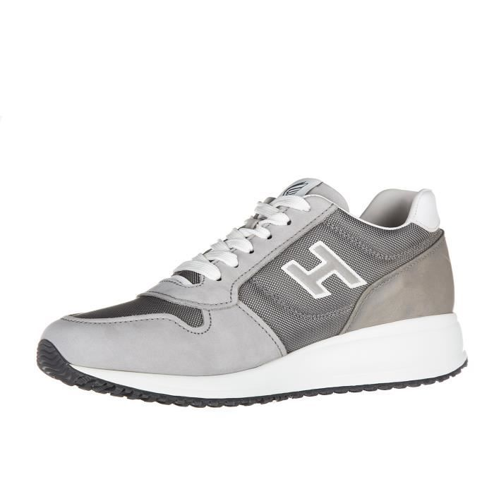 Chaussures baskets sneakers homme en cuir interactive n20 h flock Hogan
