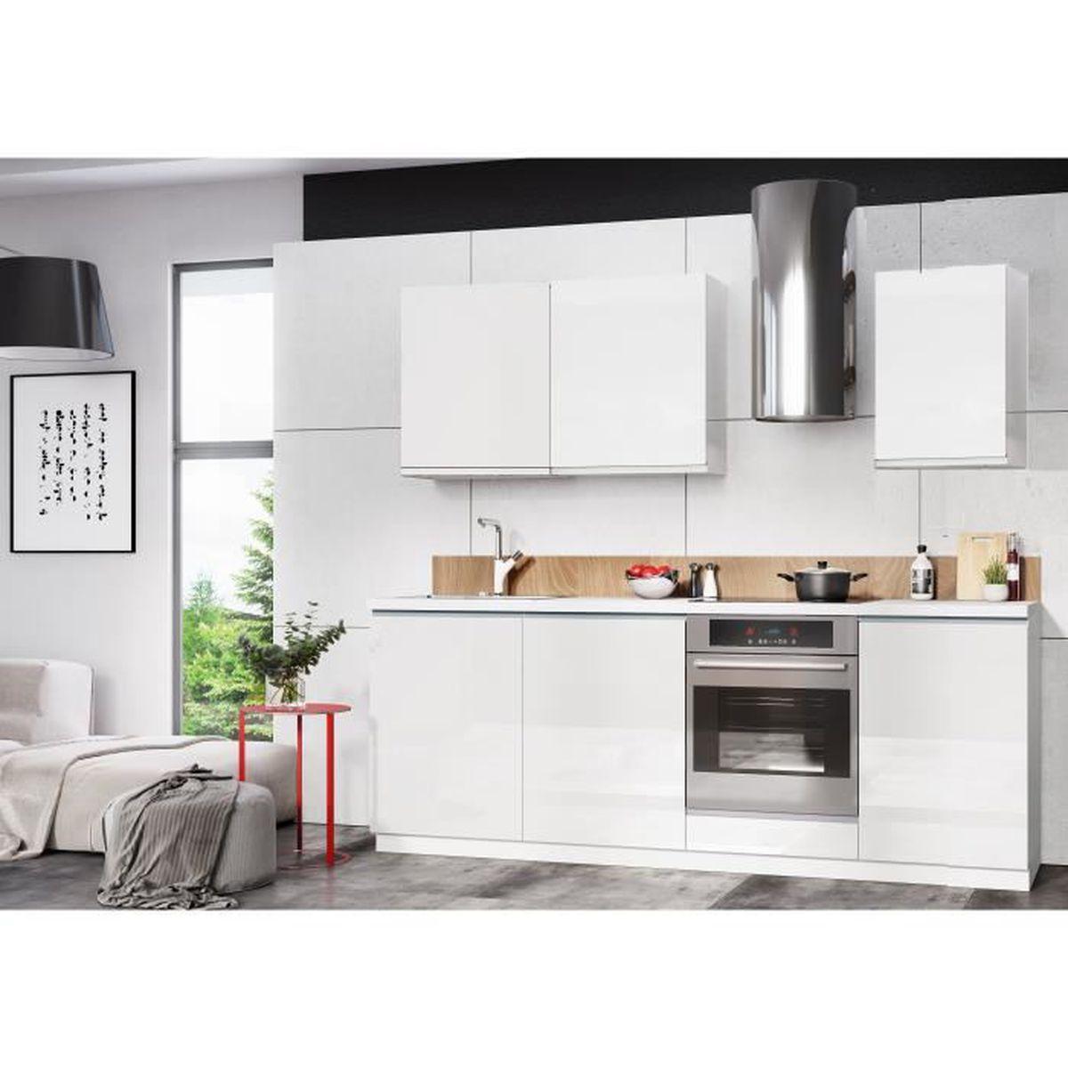 Difference Blanc Brillant Et Blanc Laqué meuble cuisine blanc laque complete