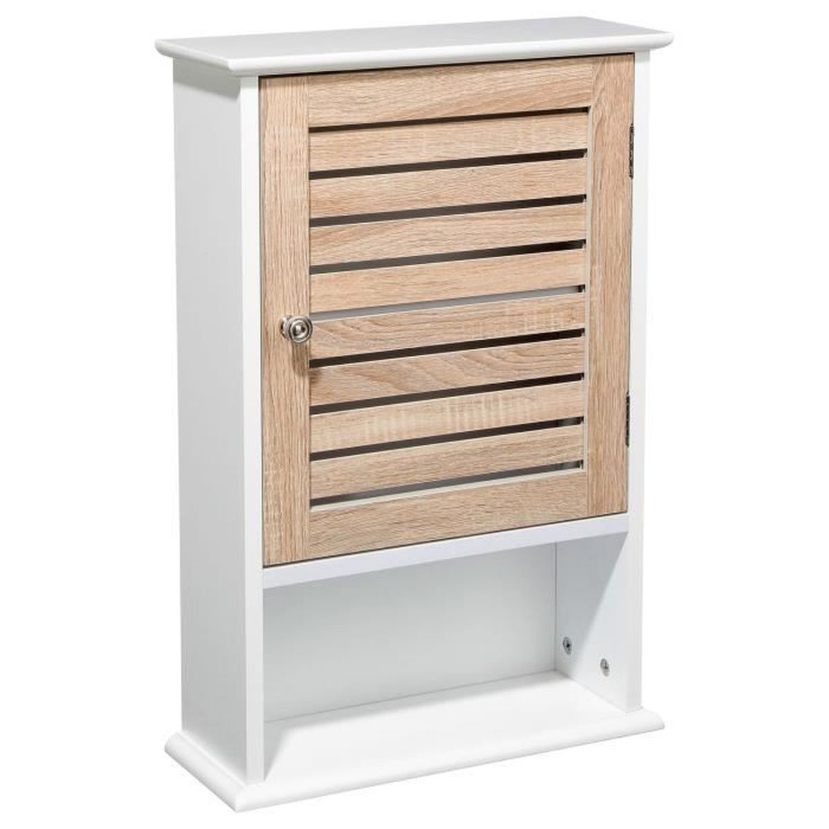 meuble de rangement haut bois blanc achat vente. Black Bedroom Furniture Sets. Home Design Ideas