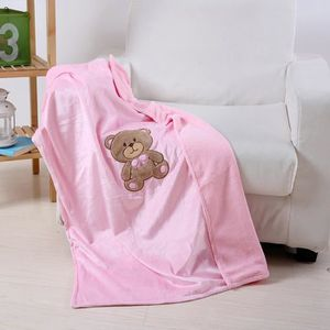 Nouveau-né Filles Garçons Doux Ours brun bébé couette sécurité Snuggle Blanket Chaud
