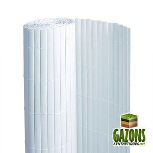 CLÔTURE - GRILLAGE Canisse PVC   Blanc   Double Face 1 x 3 m