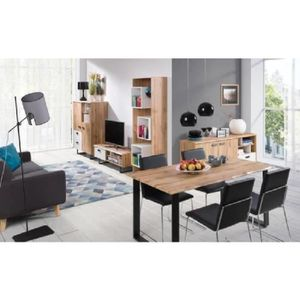 ensemble meubles salon industriel achat vente pas cher. Black Bedroom Furniture Sets. Home Design Ideas