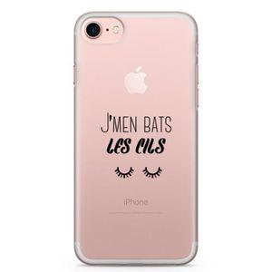 FAUX CILS Coque iPhone 8 / 8 Plus J'men bas les cils Noir