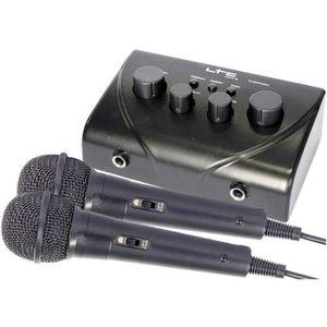 TABLE DE MIXAGE Set karaoké pour TV LTC Audio TV-STATION (2 micros