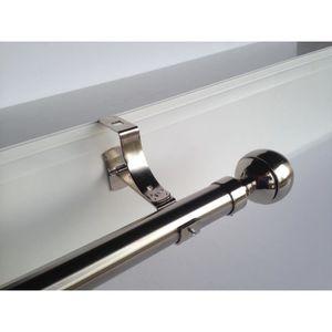 TRINGLE A RIDEAU 2 Supports nickel de tringle à rideaux ᴓ 20mm pour