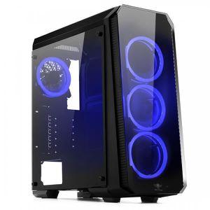 UNITÉ CENTRALE  Pc Gamer Deathmatch 8 Blue AMD Ryzen 3 1200 - nVID