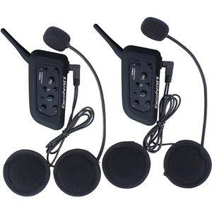 INTERCOM MOTO Excelvan V6 Interphone Moto Bluetooth Lot de 2 Int