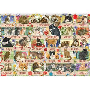 PUZZLE Puzzle 1000 pièces : Anniversary Cats aille Unique