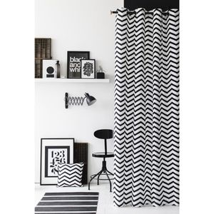 double rideaux noir et blanc achat vente double. Black Bedroom Furniture Sets. Home Design Ideas