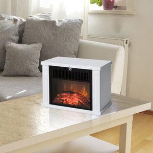 CHEMINÉE Mini cheminée électrique blanche