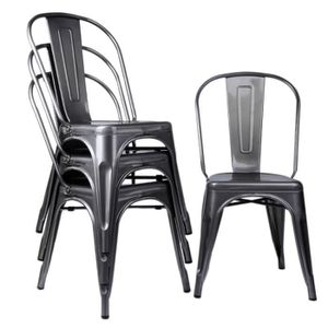 chaise bistrot metal achat vente pas cher. Black Bedroom Furniture Sets. Home Design Ideas